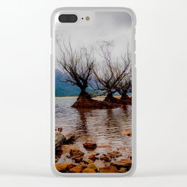 Glenorchy Willow Trees Clear iPhone Case