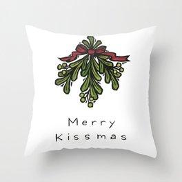 Merry Kissmas, Holiday Mug, Under the Mistletoe Mug Throw Pillow