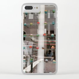 NYC Cupcake Shop Reflections Clear iPhone Case