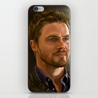 stephen king iPhone & iPod Skins featuring Stephen Amell by Chanuka Hemachandra