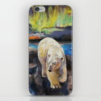 northern lights iPhone & iPod Skins featuring Northern Lights by Michael Creese