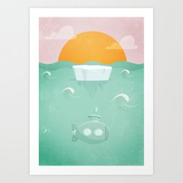 Ice Burg  Art Print