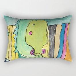 Bad Gator Rectangular Pillow