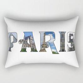 Paris Collage Rectangular Pillow