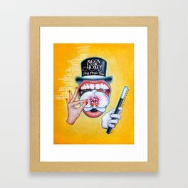 Boy Magic Tour Poster Framed Art Print