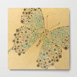Ulysses Dotti Butterfly from Charlotte Flowers Metal Print
