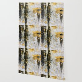 Yellow & Black Cement (Color) Wallpaper