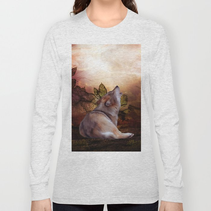Awesome wolf Long Sleeve T-shirt