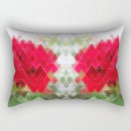 Red Rose Edges Art Triangles 2 Rectangular Pillow