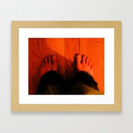 My Feet Framed Art Print
