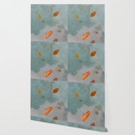 Leaves On Water Wallpaper