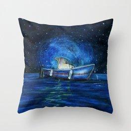Sailing the Ocean Throw Pillow