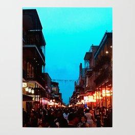 New Orleans Bourbon Street Dusk Poster