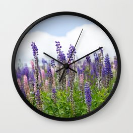 Hundreds of lupines Wall Clock
