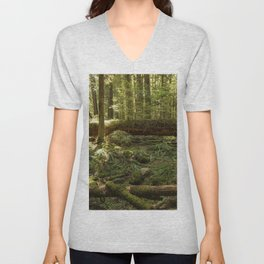 New Life From a Fallen Tree Unisex V-Neck