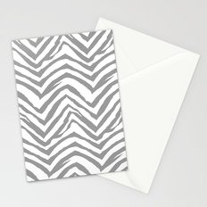 Chevron stripes zebra pattern minimal grey and white basic pattern nursery home decor Stationery Cards