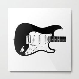 Guitar Drawing Metal Print