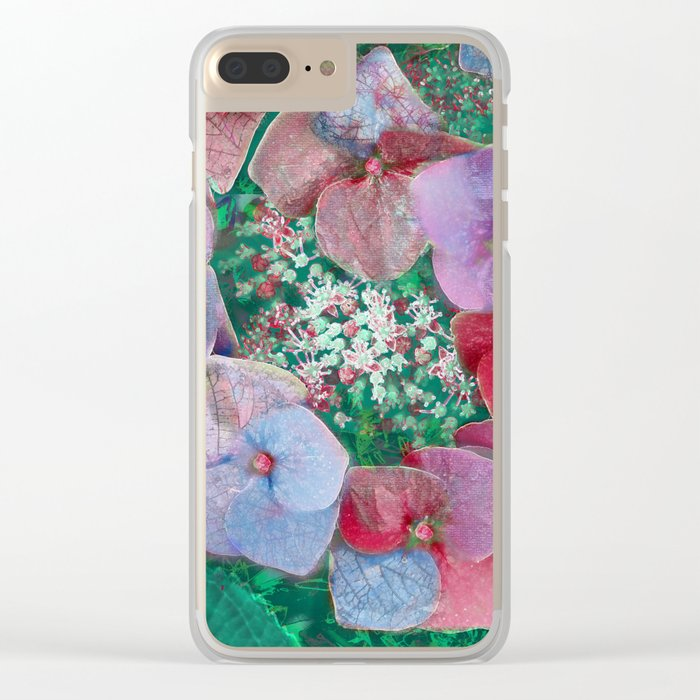 Floral abstract(55) Clear iPhone Case