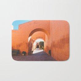 Silencio at the Santa Catalina Monastery, Arequipa, Peru Bath Mat