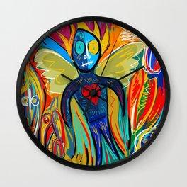 Young Soul and Pure Heart Street Art Graffiti Wall Clock
