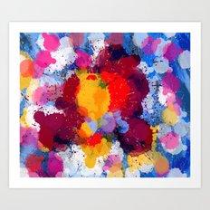 Rain Drops of color Art Print