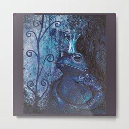 The Frog King - blue Metal Print