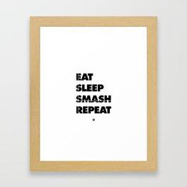 Eat Sleep Smash Repeat Framed Art Print