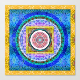 Exquisite Mind Tibetan Inspired HDR Mandala 1 Canvas Print