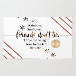 friends don't lie. (quotes) Rug