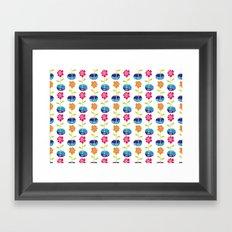 Fish Bowl Flowers Framed Art Print
