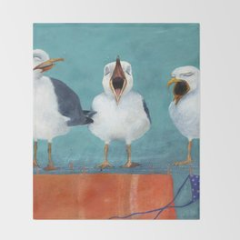 Gaviotas Throw Blanket