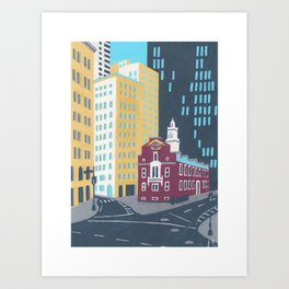 The Old State House - Boston Landmarks Art Print