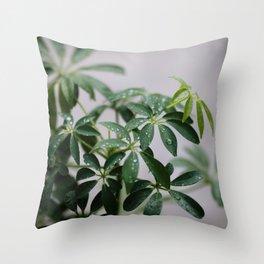 Plant Close Up Throw Pillow