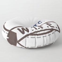 W.I.F.E. - wife, milf - WHITE Floor Pillow