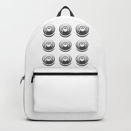 Female screw nuts (hardware) engine in design fashion modern monochrome style illustration Backpack
