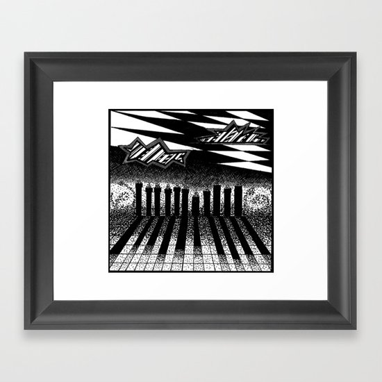 descending of night at the factory Framed Art Print