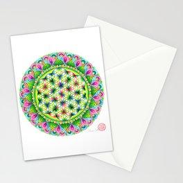 HEART CHAKRA MANDALA Stationery Cards