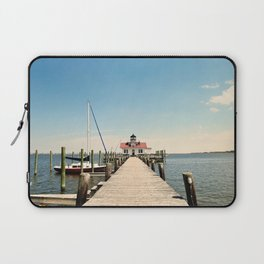 Outer Banks, Roanoke Island Marshes Lighthouse, Manteo, NC OBX Laptop Sleeve