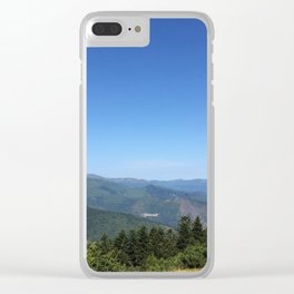 Summits in summer Clear iPhone Case