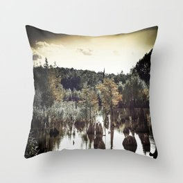 Dead Lakes Grunge Style Throw Pillow