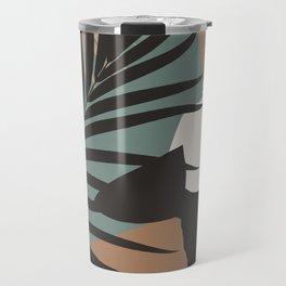 Midnight Surfer Abstract Minimalism #1 #minimal #decor #art #society6 Travel Mug