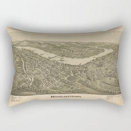 1897 street plan of Morgantown West Virginia Rectangular Pillow