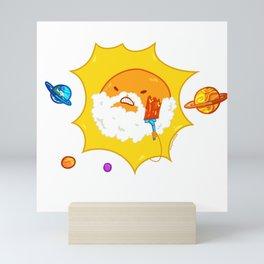 Shaving sun Mini Art Print