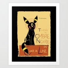 Ombre Noir Art Print