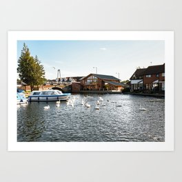 The village of Wroxham on the River Bure Art Print