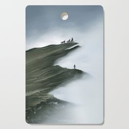 Foggy Landscape Digital Painting Cutting Board