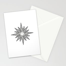 Surf in a Windrose – Compass (tattoo style) Stationery Cards