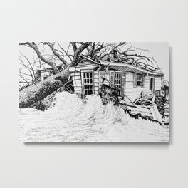 An Old Home is Overtaken by the Forces of Nature Metal Print