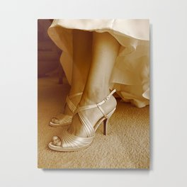 Wedding Day Shoes Metal Print