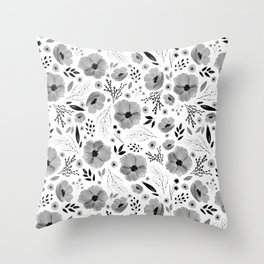 Lovely Little Floral Pattern Throw Pillow